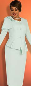 Ben Marc Executive 11861 - Skirt Suit With Asymmetric Pleated Jacket Featuring Shoulder Detail