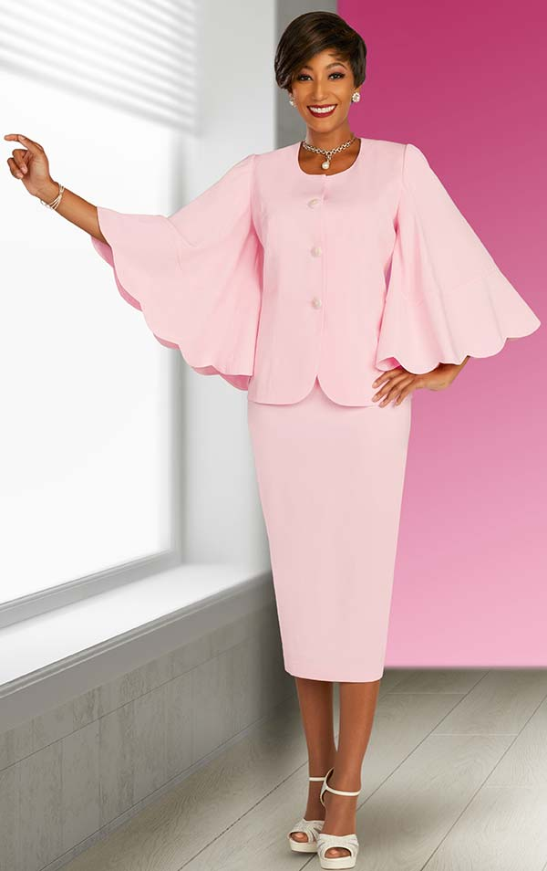 Ben Marc Executive 11863 - Skirt Suit With Scalloped Butterfly Sleeve Jacket