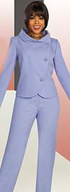 Ben Marc Executive 11867 - Wardrober Skirt And Pant Suit Set With Suit With Roll Collar Wrap Jacket