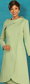 Ben Marc Executive 11868 - Cap Sleeve Sheath Dress Suit With Long Wrap Style Jacket