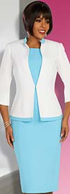 Ben Marc Executive 11869 - Professional Womens Dress Suit With Two Tone Jacket