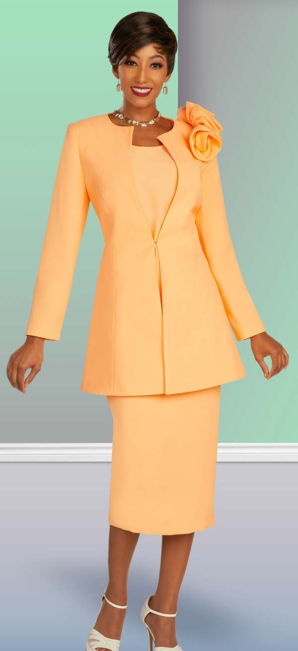 Ben Marc Executive 11876 - Three Piece Skirt Set With Shoulder Detail On Long Jacket