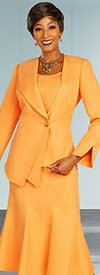 Ben Marc Executive 11877 - Three Piece Flared Skirt Suit With Asymmetric Design Jacket