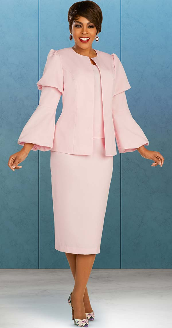 Ben Marc Executive 11881 - Tiered Puff Sleeve Jacket And Skirt Set