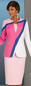 Ben Marc Executive 11883 - Womens Weekender Wardrobe Suit Set With Multi Color Jacket