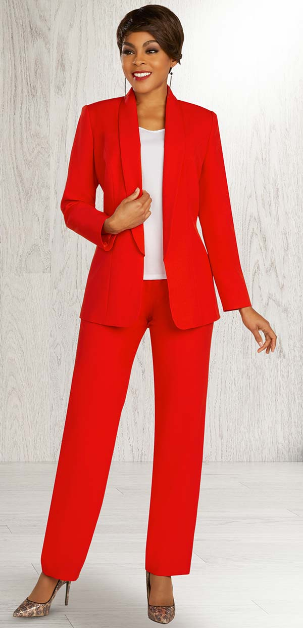 Ben Marc Executive 11886 - Womens Business Pant Suit With Shawl Lapel Jacket