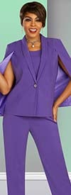 Ben Marc Executive 11887 - Womens Pant Suit With Capelet Style Jacket