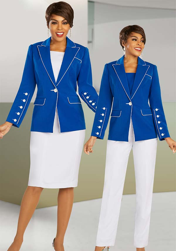 Ben Marc Executive 11888 - Business Wardrober Set With Skirt And Pants Featuring Peak Lapel Button Cuff Jacket