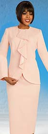 Ben Marc Executive 11895 - Ladies Wardrober Suit Set With Cascading Ruffle Jacket Detail