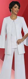 Ben Marc Executive 11916 Womens Wde Leg Pant Suit With Split Sleeve Jacket