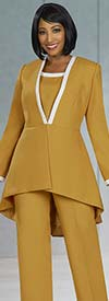 Ben Marc Executive 11919 Womens Weekender Skirt And Pant Suit Set With High-Low Jacket