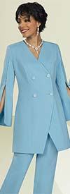 Ben Marc Executive 11921 Womens Skirt And Pant Suit Wardrober Set With Split Sleeve Jacket