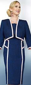 Ben Marc Executive 11571 Ladies Dress & Jacket Set With Textured Design