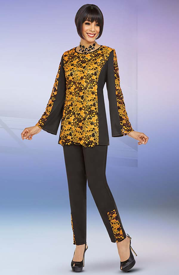 Ben Marc Casual Elegance 18349 Womens Pant Suit With Floral Print Design