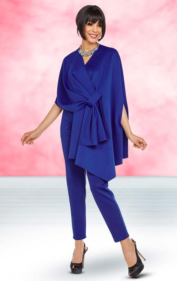 Ben Marc Casual Elegance 18361 Womens Pant Suit With Wrap Design Top