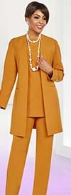 Ben Marc Casual Elegance 18385 Womens Pant Suit With Long Jacket Design
