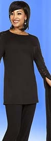 Ben Marc Casual Elegance 18360 Womens Pant Suit With Extended Angel Sleeve Design Top