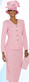 Ben Marc Specials 47766 Skirt Suit Ensemble In A Box Wlth Embellished Detail