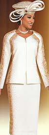 Ben Marc 48151 Womens Knit Church Suit With Sweetheart Neckline