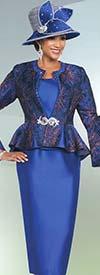 Ben Marc 48159 Womens Skirt Suit With Peplum Jacket Design