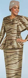 Clearance Ben Marc 48160 Womens Skirt Suit With Peplum Jacket