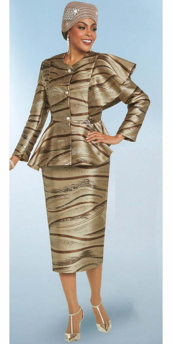 Ben Marc 48160 Womens Skirt Suit With Peplum Jacket