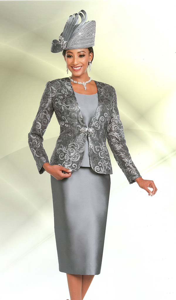 Ben Marc 48165 Womens Church Suit With Lace Jacket Design