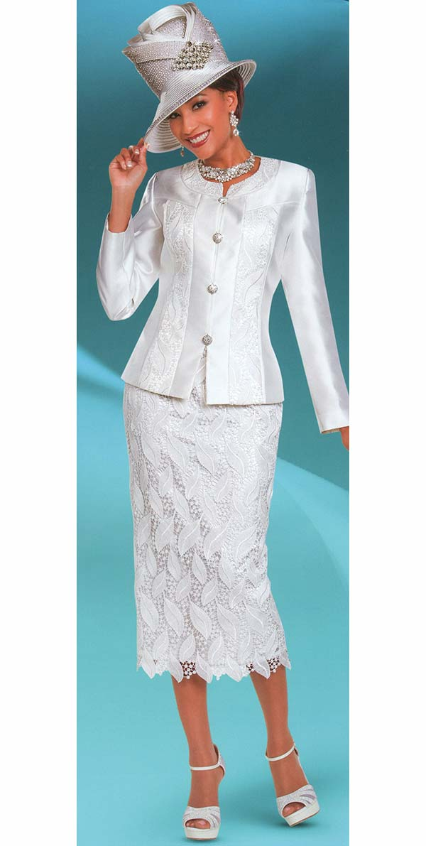 Ben Marc 48170 First Lady Church Suit With Lace Design