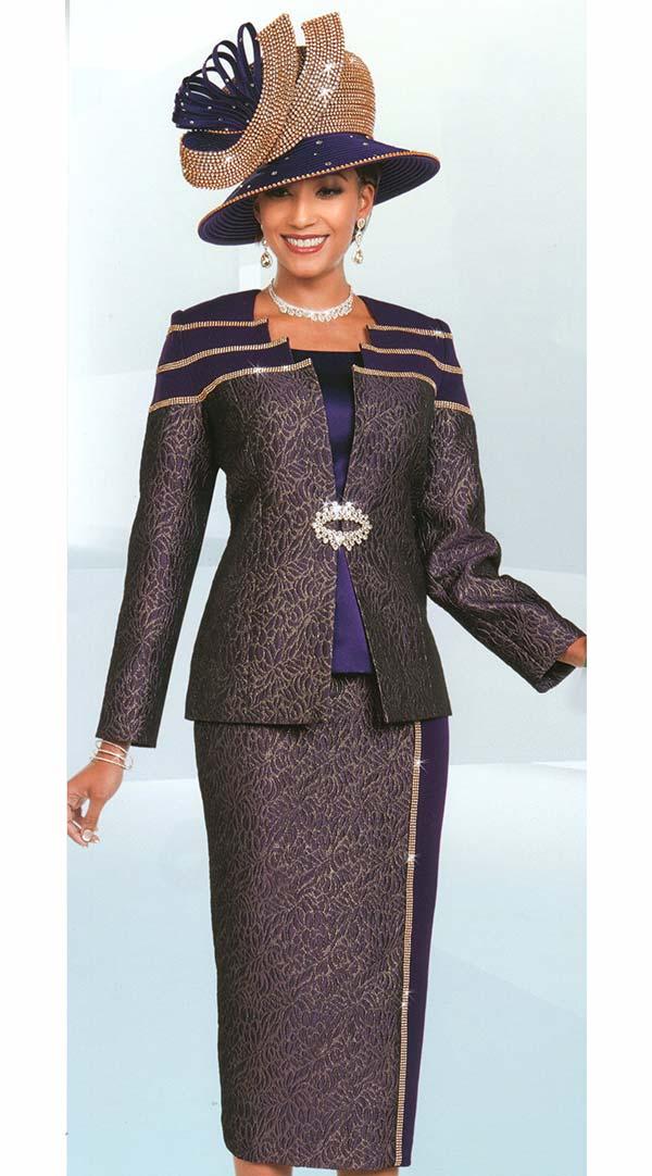 Ben Marc 48173 Womens Skirt Suit With Textured & Solid Design