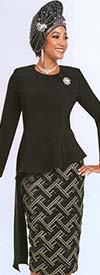 Ben Marc 48175 Womens Skirt Suit With Asymmetric Cut Jacket