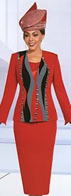 Ben Marc 48178 Womens Church Suit With Pattern Inset Design