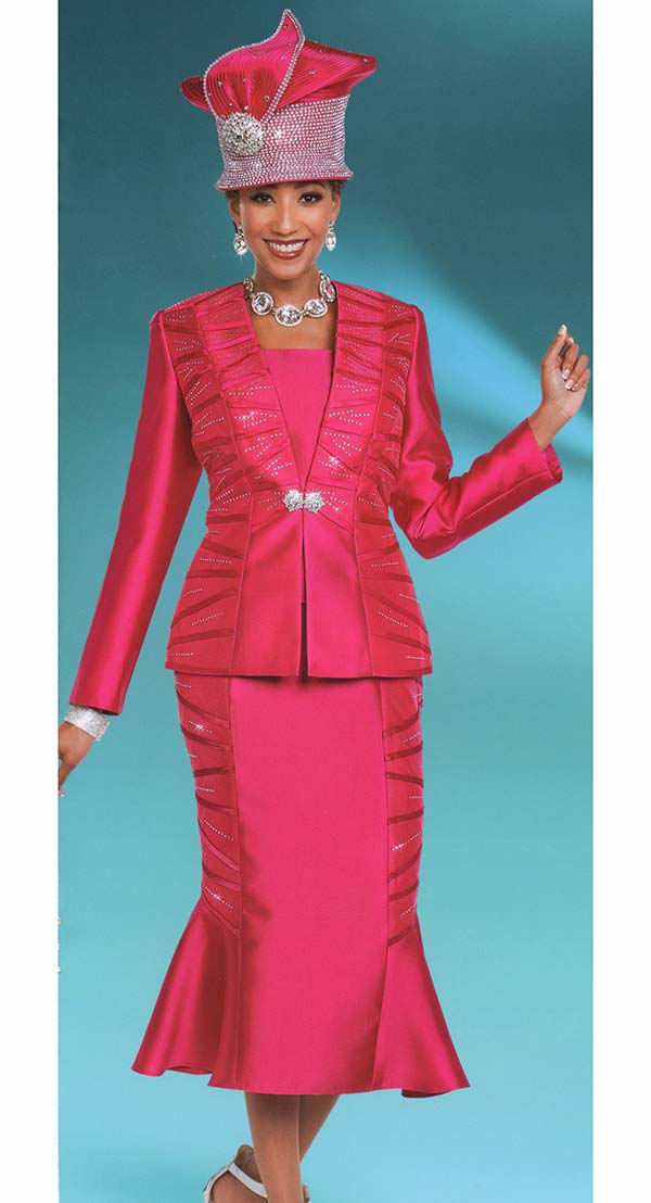 Ben Marc 48182 Embellished Womens Church Suit With Flared Skirt