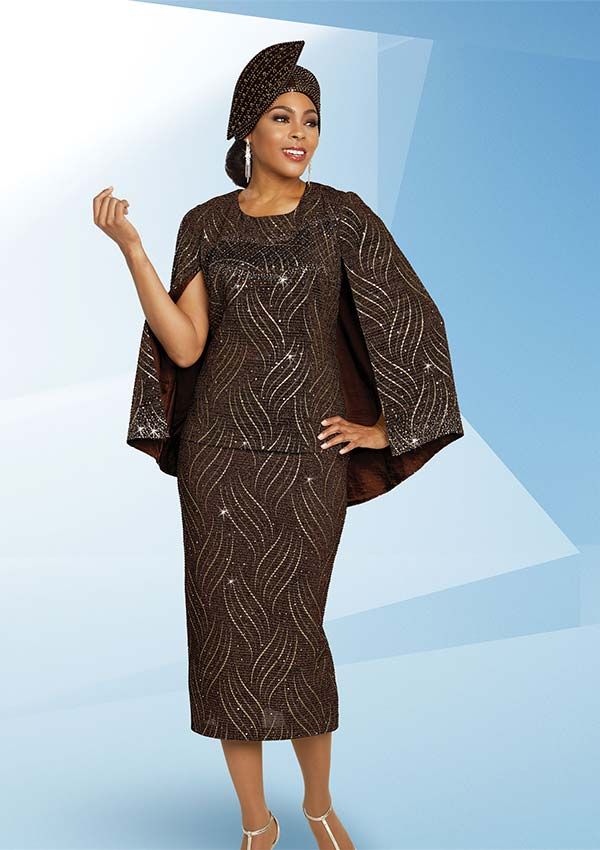 Ben Marc 48265 Womens Church Suit With Cape Style Jacket