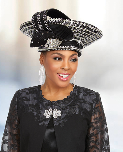Ben Marc 48230H Embellished Church Hat
