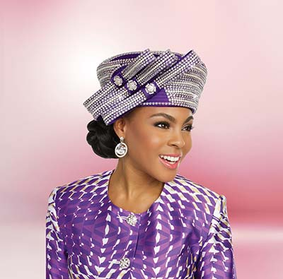 52a377610 Ben Marc 48232H Womens Triple Bow Church Hat With Rhinestones