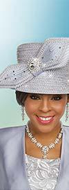 Ben Marc 48234H Ladies Rhinestone Adorned Church Hat