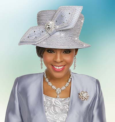 Ben Marc 48234H Ladies Rhinestone Adorned Church Hat