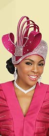 Ben Marc 48238H Embellished Womens Church Hat In Satin Braided Fabric