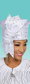 Ben Marc 48239H Satin Braided Fabric Womens Embellished Church Hat