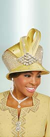 Ben Marc 48240H Ladies Rhinestone Embellished Church Hat