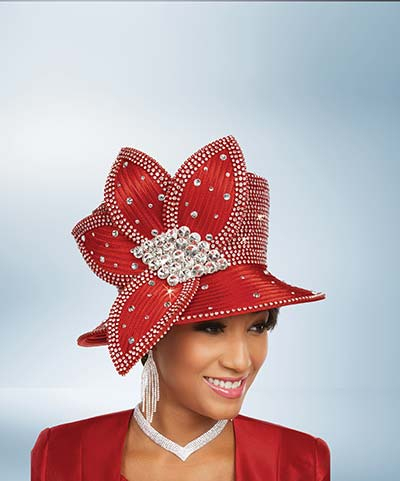 Ben Marc Hat 48243H Ladies Church Hat With Rhinestones