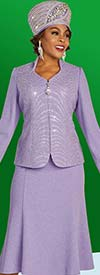 Ben Marc 48304 Flared Knit Skirt Suit With Embellished Sweetheart Neckline Jacket