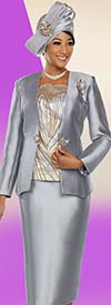Ben Marc 48214 Three Piece Silky Twill Womens Church Suit