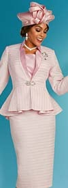 Ben Marc 48310 Womens Church Suit With Stand-Up Collar And Peplum Jacket