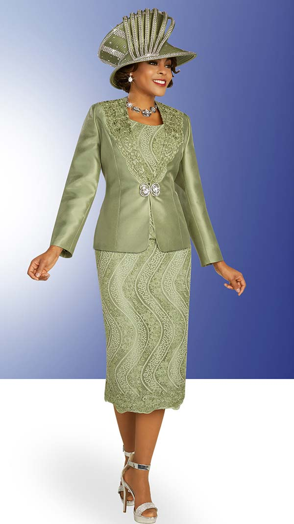 Ben Marc 48314 Lace Detailed Skirt Suit With Satin Jacket