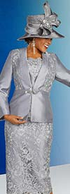 Ben Marc 48315 Womens Three Piece Skirt Suit In Lace Detail Design