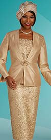 Ben Marc 48316 Womens Three Piece Skirt Suit With Lace & Sequin Details