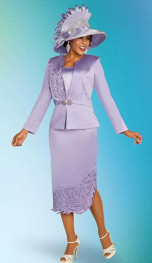 Ben Marc 48322 Three Piece Skirt Suit With Leaf Detail Design