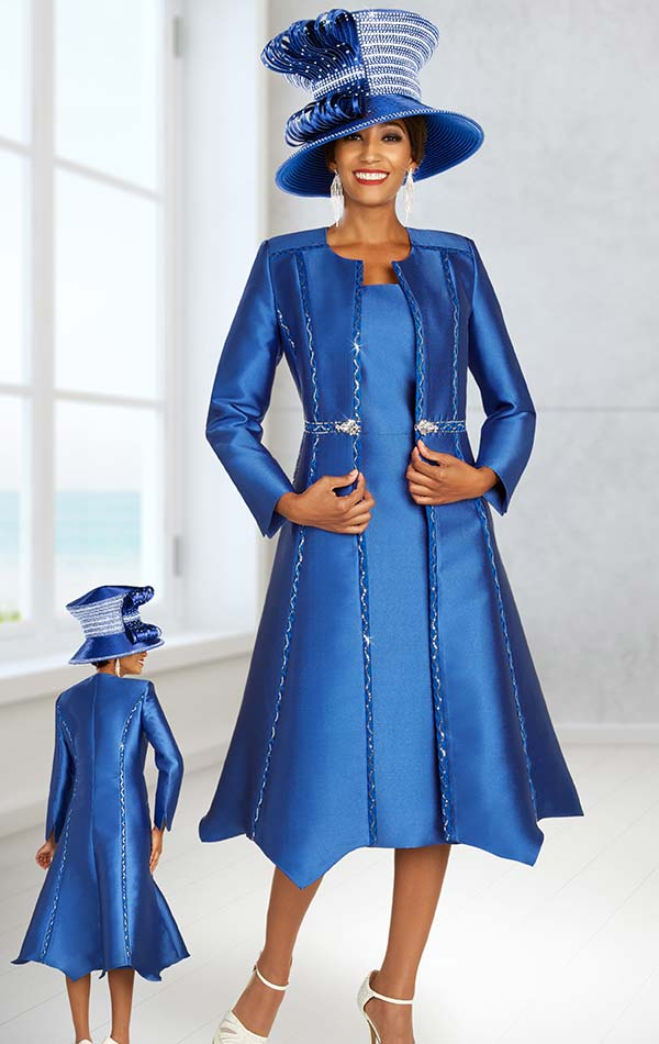 Ben Marc 48329 Church Dress With Embellished Design Flared Duster Jacket