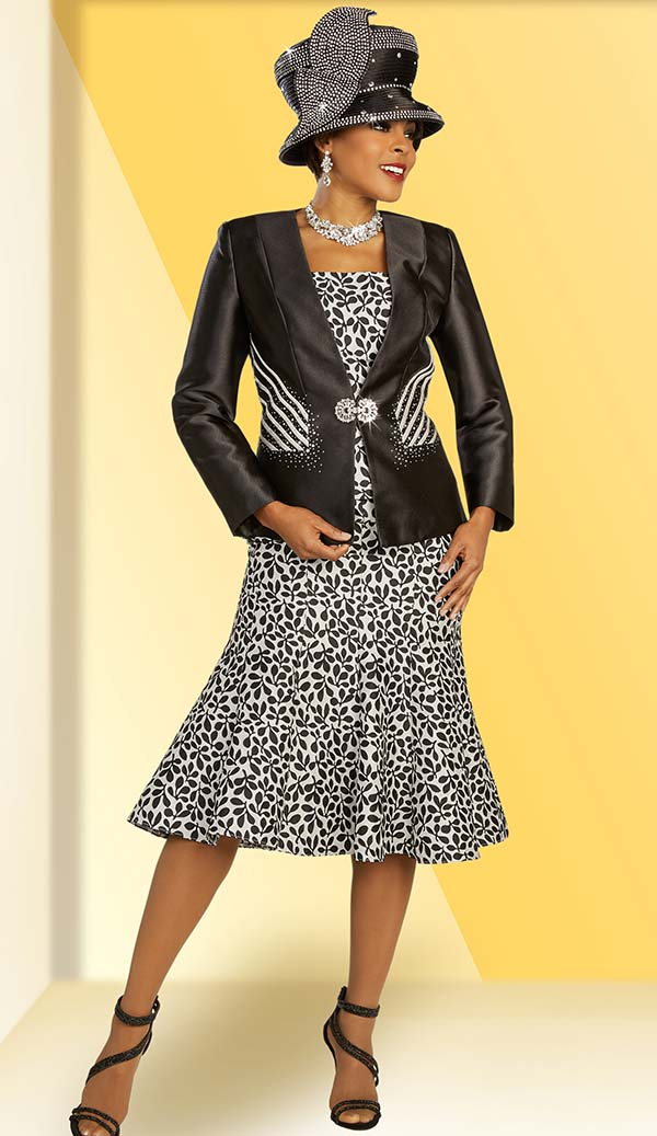 Ben Marc 48332 Womens Church Suit With Flared Print Skirt